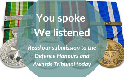 Recognising veterans and families