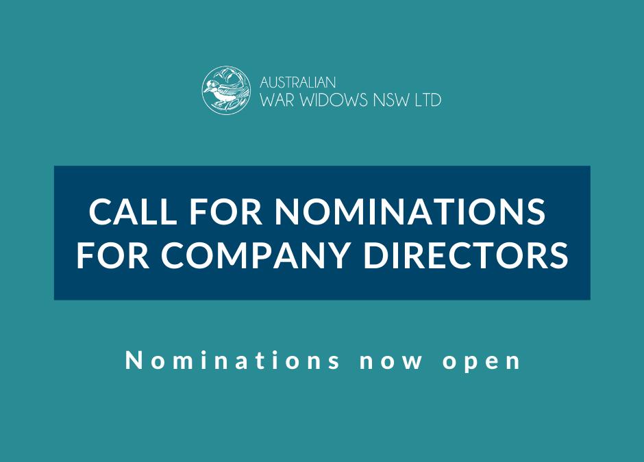 Nominations for Company Directors